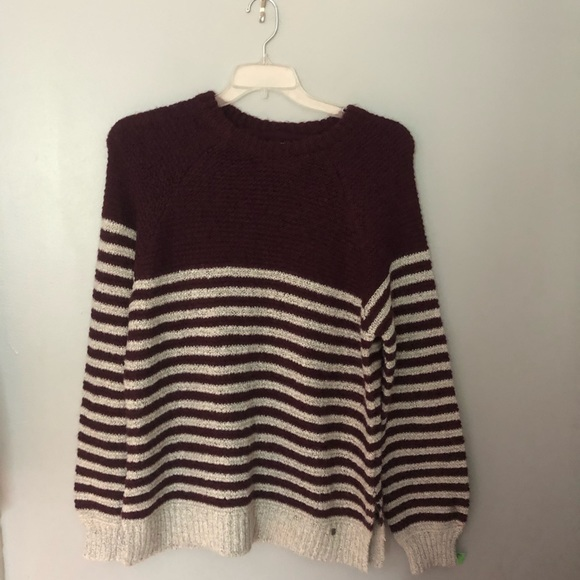Volcom striped knit sweater M